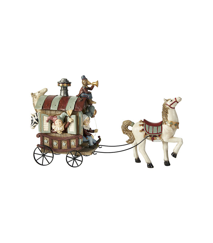 Karavane med dyr 40 cm cirkus eller jule tema