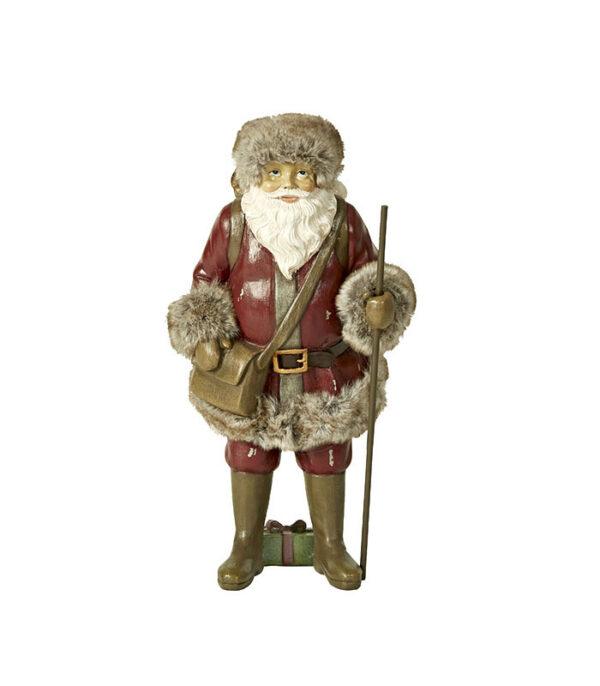 Julemand med sæk 29cm julepynt af god kvalitet
