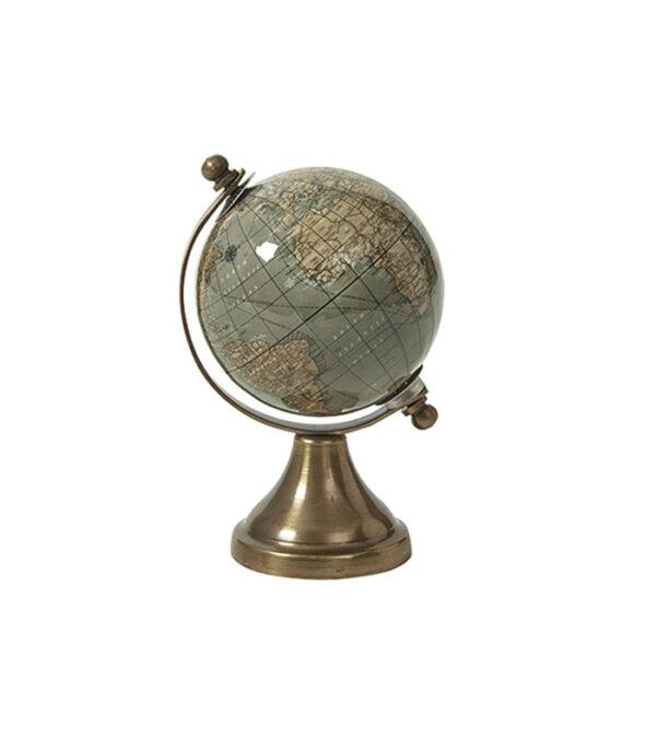 Globus på messingfod oliven 14 cm
