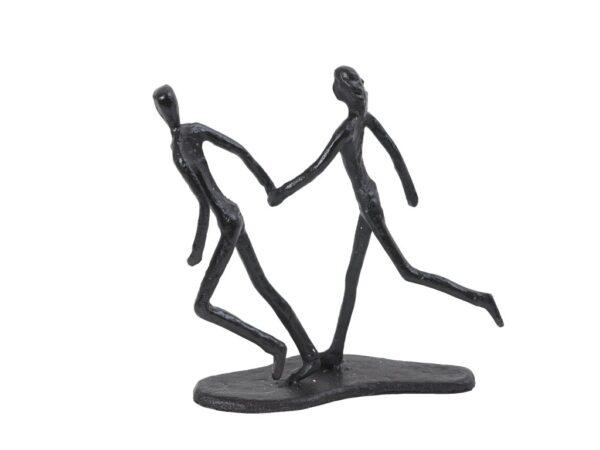 Par stikker af sammen hjerteform sort jernfigur