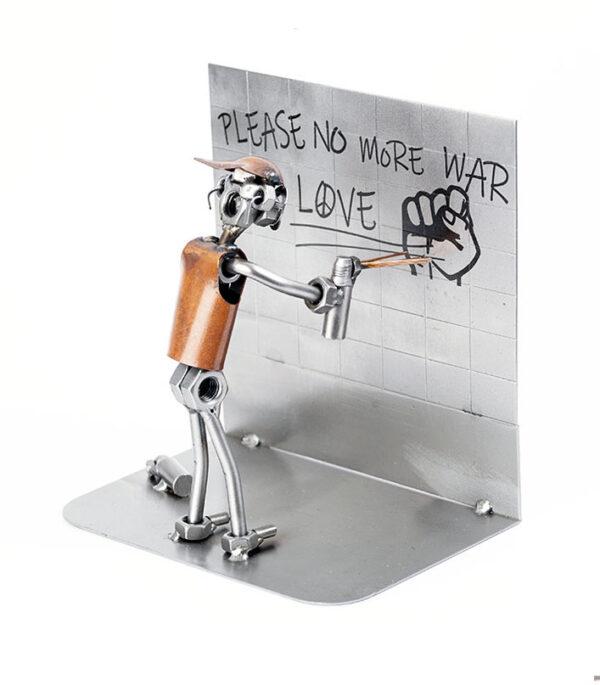 Graffiti maler kunstner metalfigur