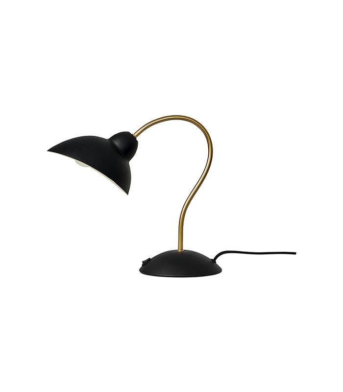 Oval bordlampe i metal 32cm
