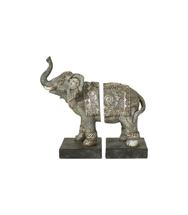 Bogstøtte elefant 22cm to-delt