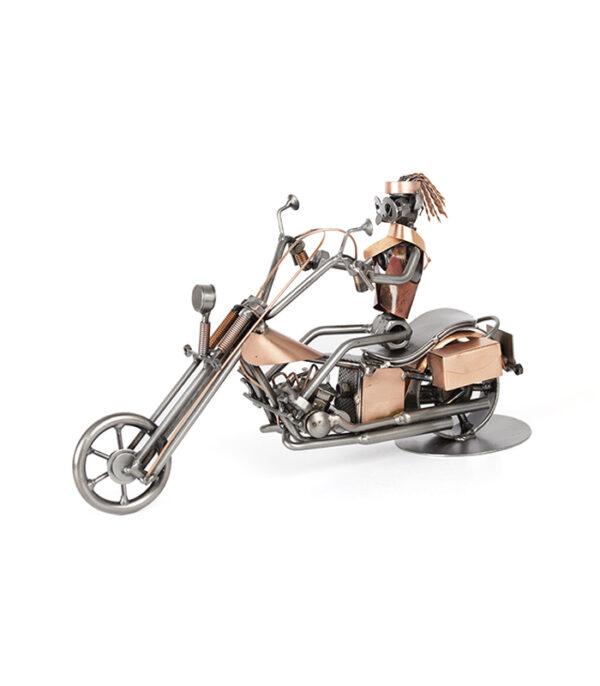 gave biker kvinde på Harley Davidson metalfigur