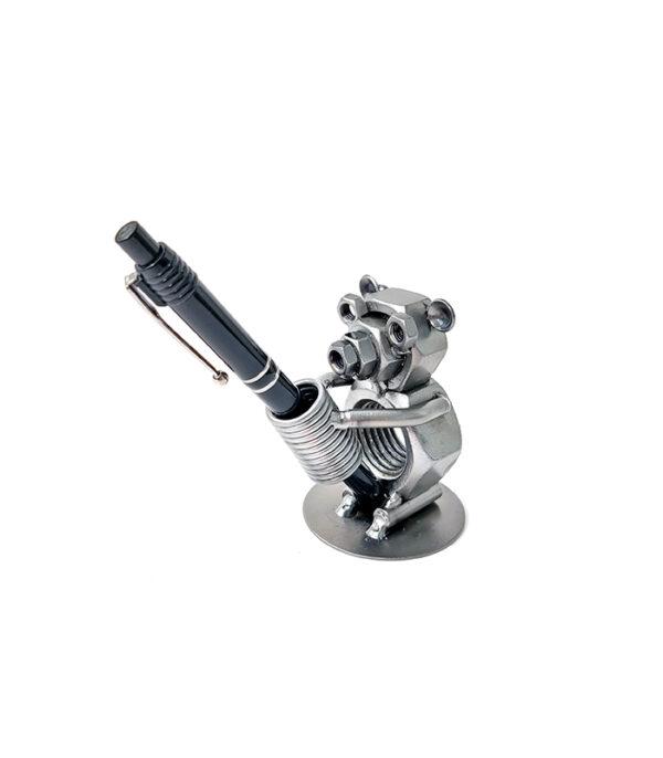 bamsebjoern metalfigur penholder