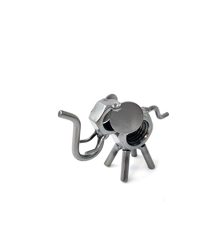 Lille elefant metalfigur til reolen