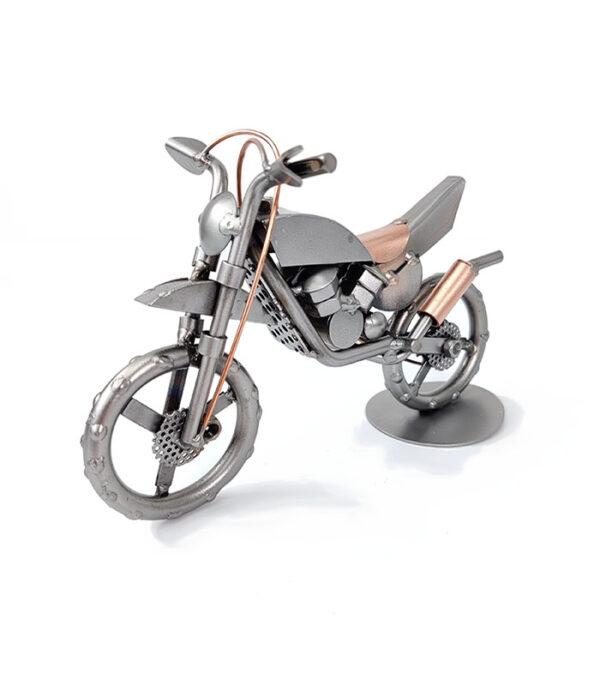 gave_motocross kører motorcykel metalfigur