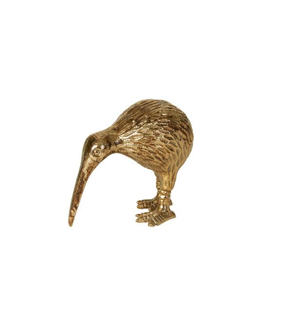 kiwi deco gylden fugl 9 cm speedtsberg