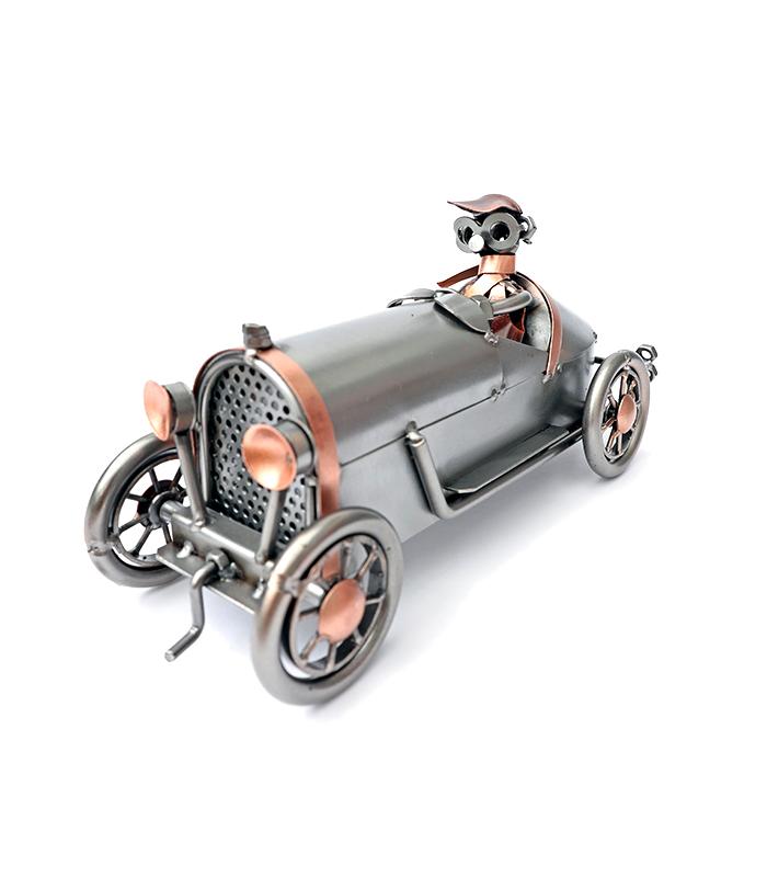 bugatti t35 veteranbil metal figur model