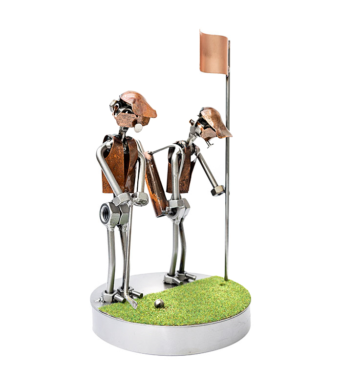 golfvenner gave metalfigur