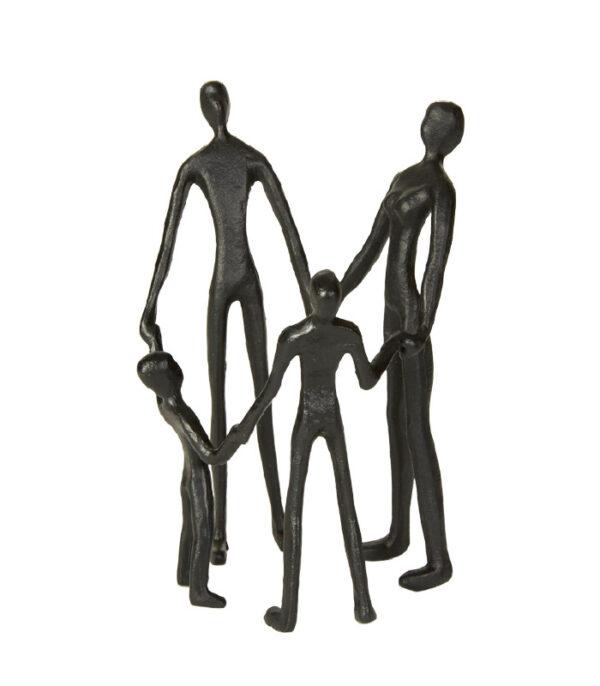 familie ring leg silhuet figur jern