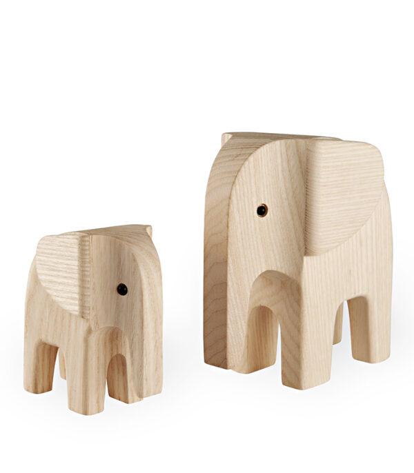 elefant dansk design træfigur