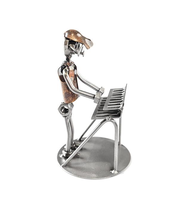 keybord spiller metalfigur