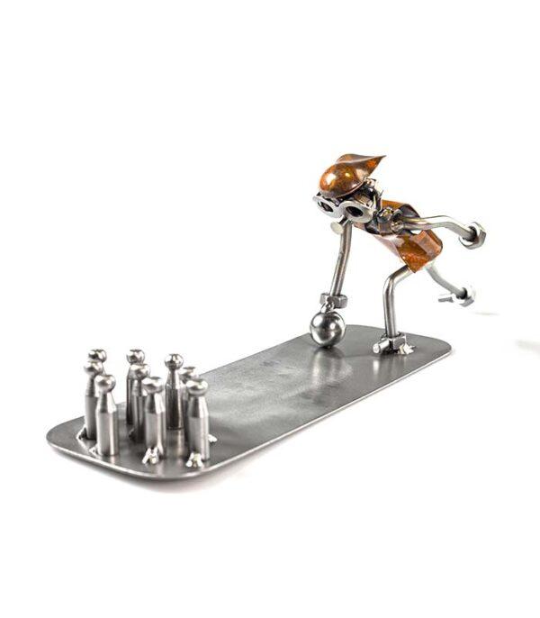 bowlingspiller metalfigur